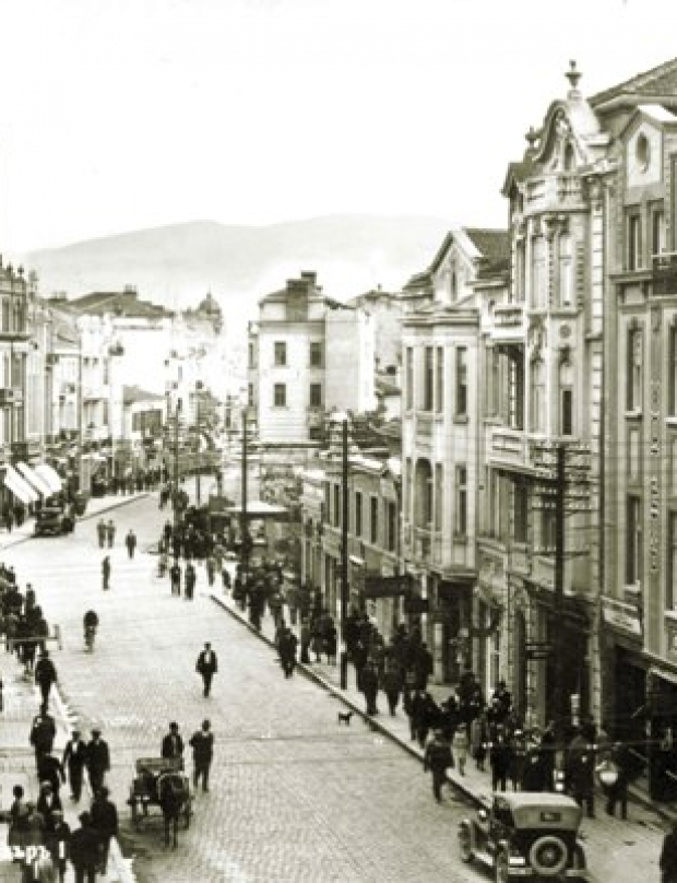 How did the Main Street in Plovdiv become a pedestrian zone?